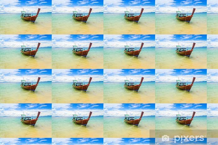 Papel pintado estándar a medida Barco de cola larga en la isla de Kradan, Tailandia - Barcos