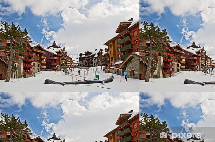 Station de ski - Les Arcs 1950, Savoie, France Vinyl Wallpaper - Holidays