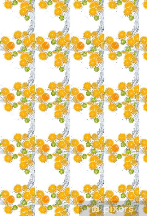 Fresh fruit in water splash Vinyl Custom-made Wallpaper - Fruit