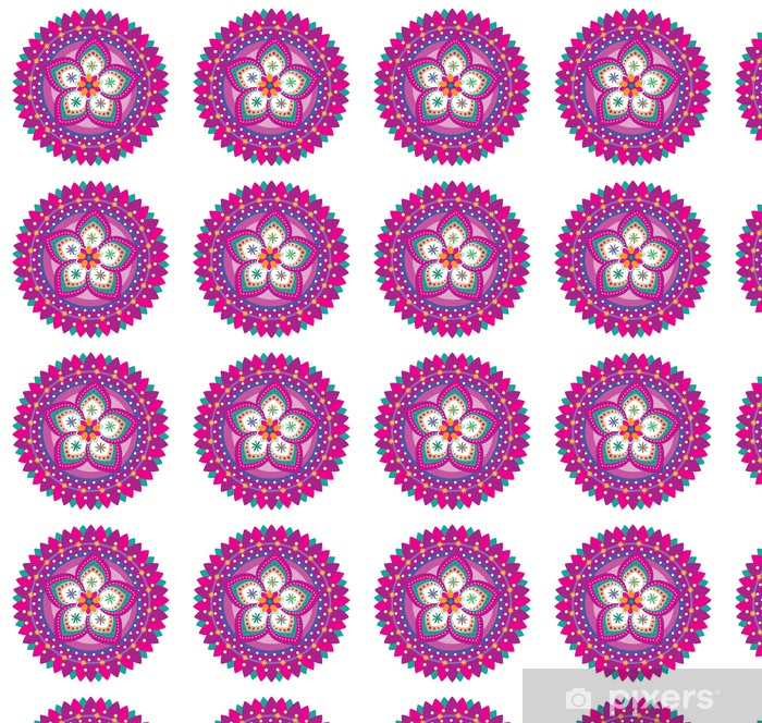 Flower pattern ornament (mandala style) Vinyl custom-made wallpaper - Wall decals