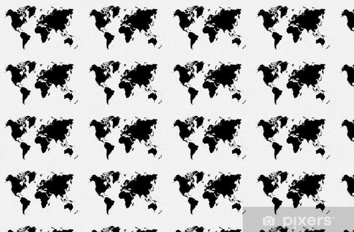 Tapeta na wymiar winylowa Czarny samodzielnie mapa świata plików wektorowych eps10. - Style