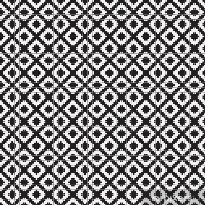 Tapete Schwarz Weiß Optische Täuschung Vektornahtloses Muster