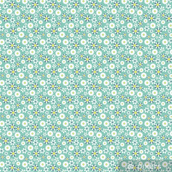 Seamless floral pattern background Vinyl Custom-made Wallpaper - Art and Creation