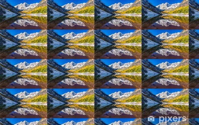 Tapeta na wymiar winylowa Liści zimą i Fall in Maroon Bells, Aspen, Kolorado - Tematy