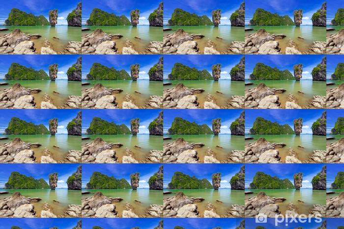 Vinyltapete nach Maß Ko Tapu Felsen auf James Bond Island, Phang Nga Bay in Thailand - Asien