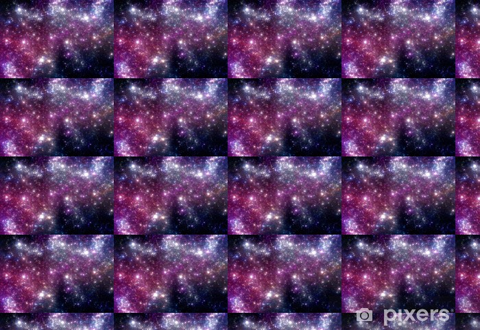 Stars background. Purple galaxy. Vinyl custom-made wallpaper - Universe