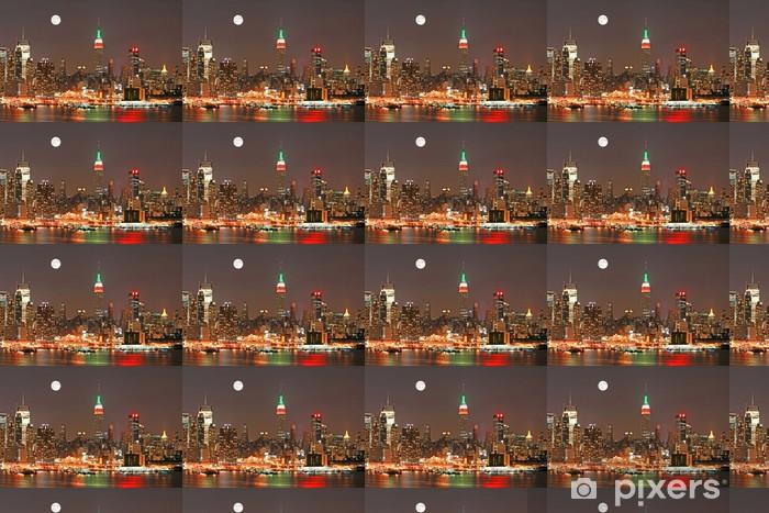 Papier peint vinyle sur mesure Horizon de Manhattan au réveillon de Noël, New York City - Villes américaines