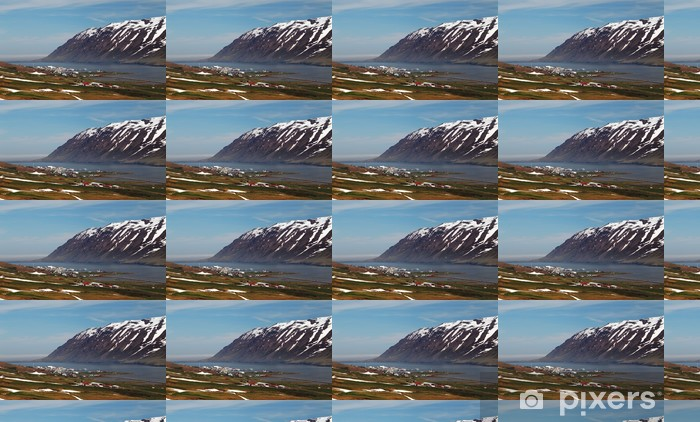 Papier peint vinyle sur mesure Montagnes de l'islande fjord iin au printemps - Europe