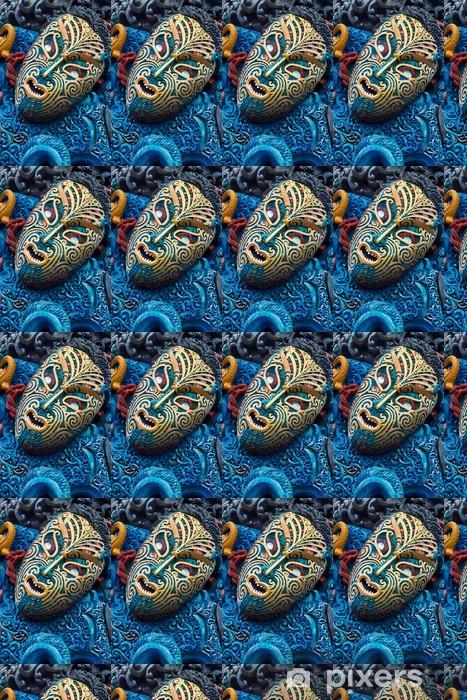 Tapeta na wymiar winylowa Kolorowe Maori Rzeźbione twarzy - Inne uczucia