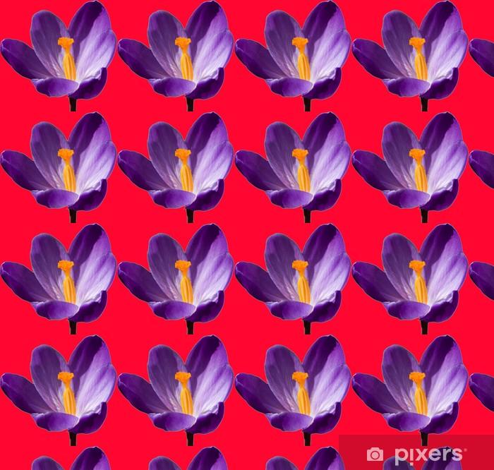 Papier peint vinyle sur mesure Violet flower - Fleurs