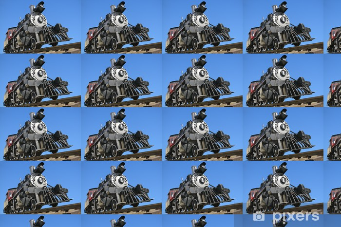 Old american steam railroad locomotive Vinyl Custom-made Wallpaper - Themes