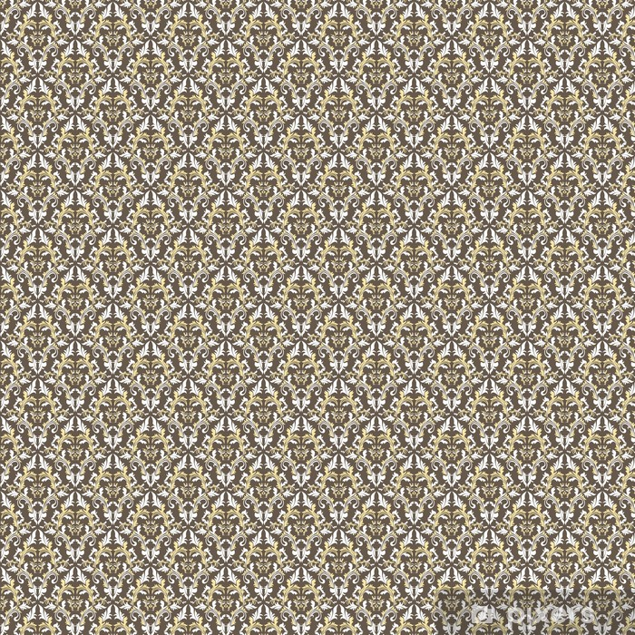 Seamless damask floral pattern. Vinyl custom-made wallpaper - Backgrounds
