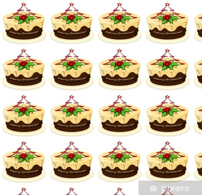 Papier peint vinyle sur mesure Un délicieux gâteau pour Noël - Desserts et friandises