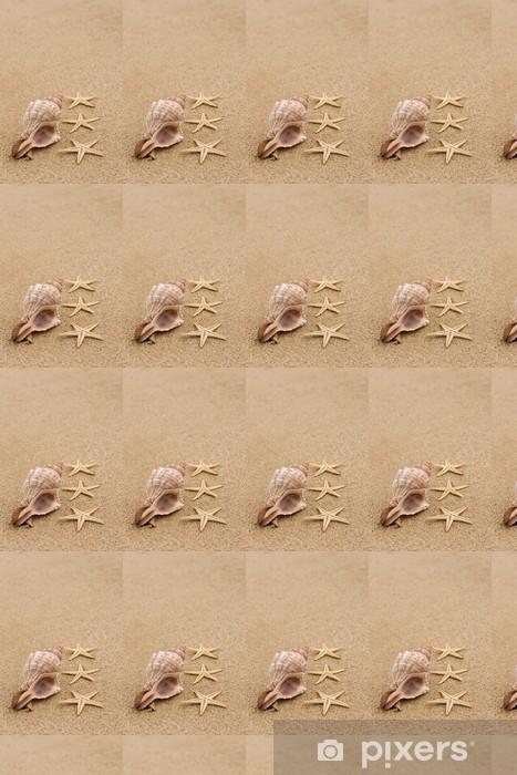 Vinyl behang, op maat gemaakt Schelp en zeesterren op het strand close-up - Seizoenen