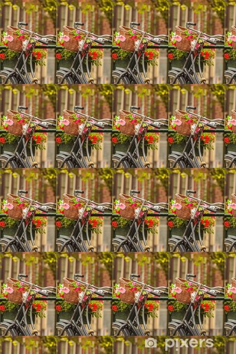 Tapeta na wymiar winylowa Letni widok rowerów w holenderskim mieście Amsterdam - Rowery