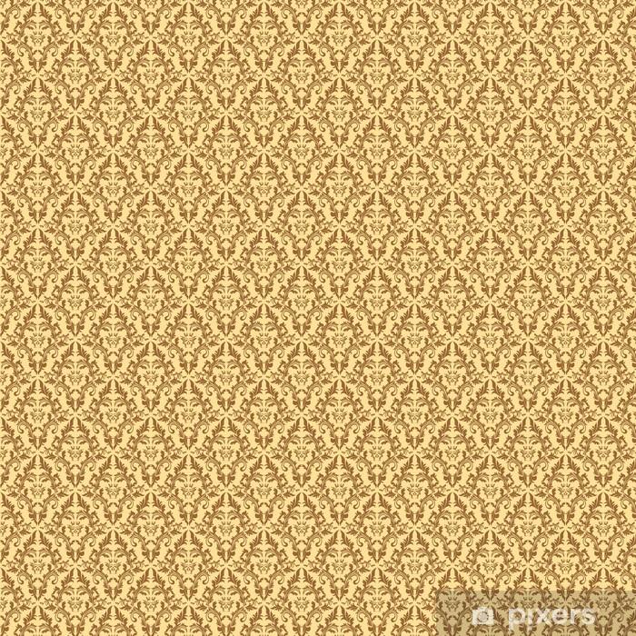 Papier peint vinyle sur mesure Seamless motif de damassé floral dans des tons beiges. - Arrière plans