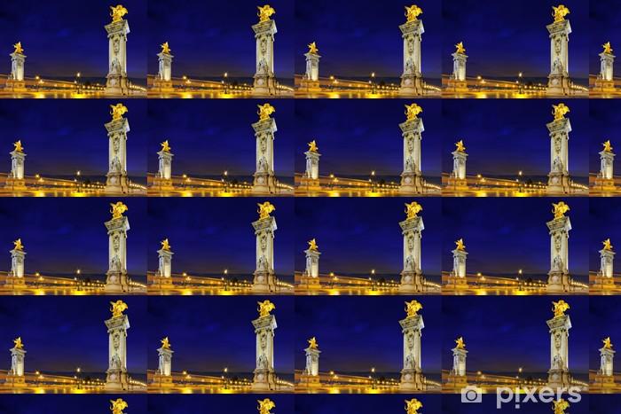 Vinylová tapeta na míru Alexandre III most v nočních view.Paris, Francie. - Památky