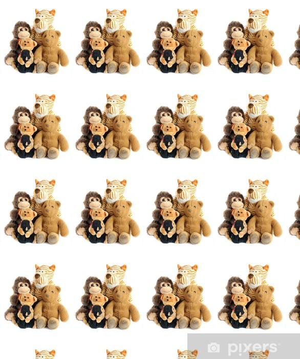 group of teddy toys Vinyl custom-made wallpaper - Life