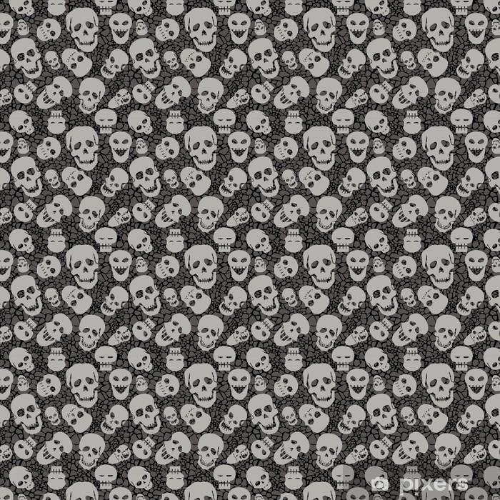 Papier peint vinyle sur mesure Seamless pattern avec des crânes - Fêtes internationales