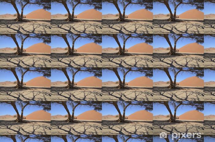 Papier peint vinyle sur mesure Namibie - les dunes de Sossusvlei - Désert