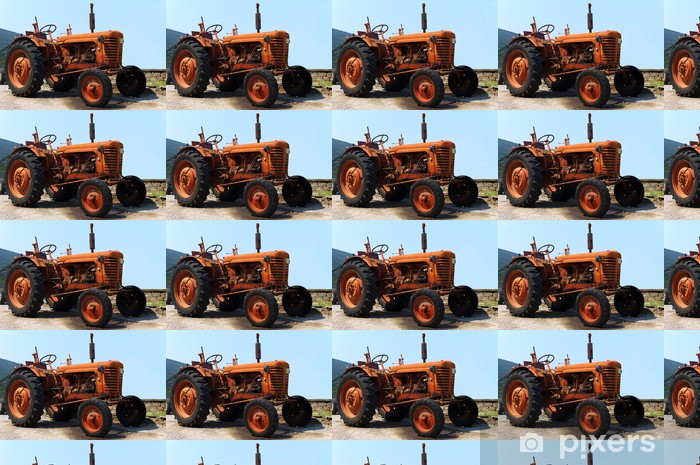 Old tractor Vinyl custom-made wallpaper - Applied and Fundamental Sciences