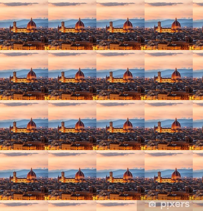 Carta da parati in vinile su misura Cattedrale di Santa Maria del Fiore al tramonto, Firenze, Italia - Temi