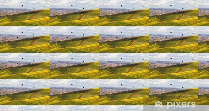 Papier peint vinyle sur mesure Vue sur la vallée, les vignes en automne, Schnait - Agriculture