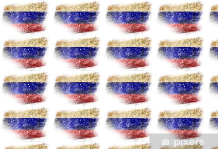 Papier peint vinyle sur mesure Russian flag - Arrière plans