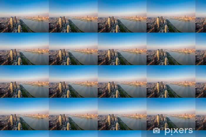 Papier peint vinyle sur mesure Vue aérienne ville - Paysages urbains