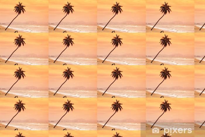 Tapeta na wymiar winylowa Palmy na tropikalnej wyspie - Krajobraz wiejski