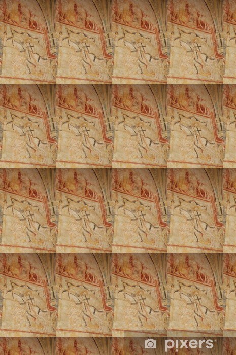 Cheylat chapel of Saint Genies in Dordogne Vinyl custom-made wallpaper - Holidays