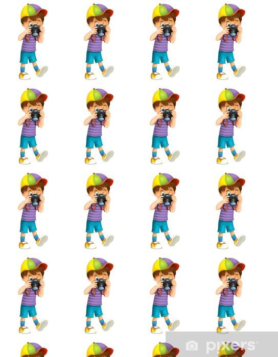 Tapeta na wymiar winylowa Cartoon dziecko samodzielnie - ilustracji dla dzieci - Naklejki na ścianę