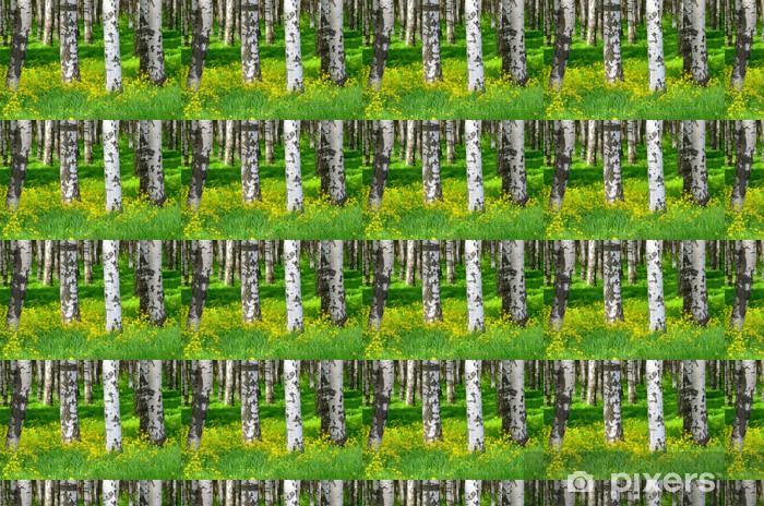 Vinyltapete nach Maß Bäume im Birkenholz - Themen