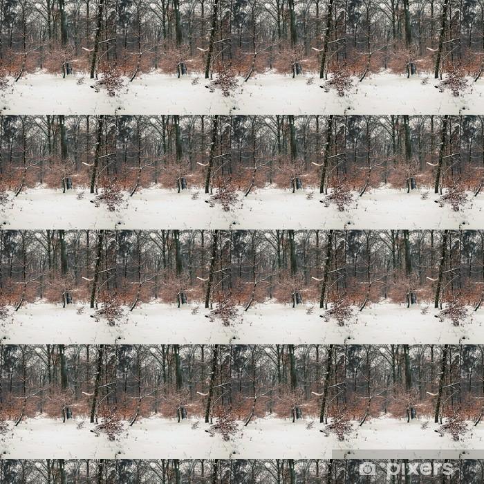 Tapeta na wymiar winylowa Zimowy las - Pory roku