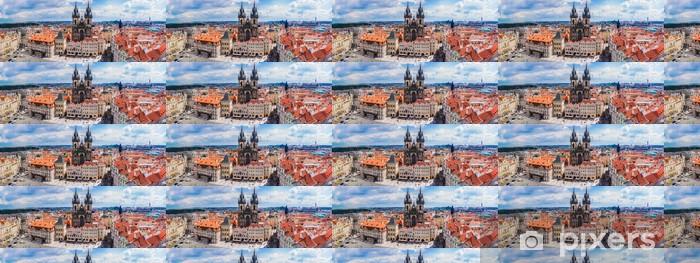 Måttanpassad vinyltapet Prag gamla torget - Europa