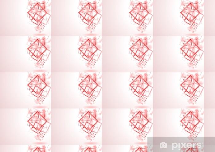 Papier peint vinyle sur mesure Lumineux carrés rouges vecteur de fond - Signes et symboles