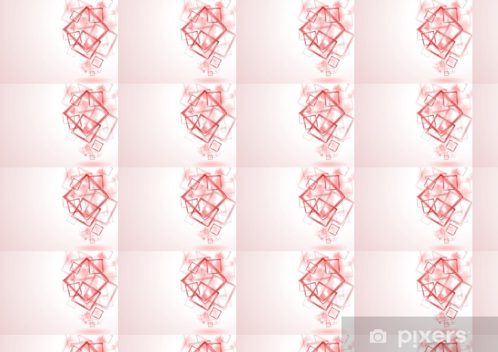Bright red squares vector background Vinyl custom-made wallpaper - Signs and Symbols