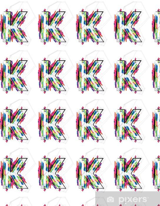 Papier peint vinyle sur mesure Illustration de police. LETTRE K. Vector illustration - Thèmes