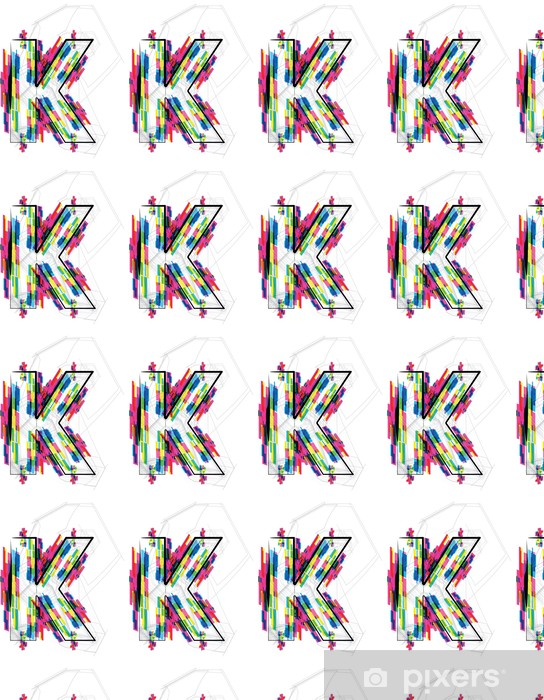 Vinyltapete nach Maß Font Illustration. BRIEF K. Vektor-Illustration - Themen