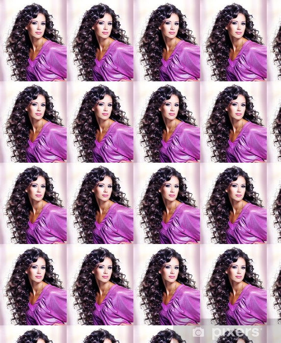 Tapeta na wymiar winylowa Twarz piękne młoda kobieta z długimi włosami - Przeznaczenia