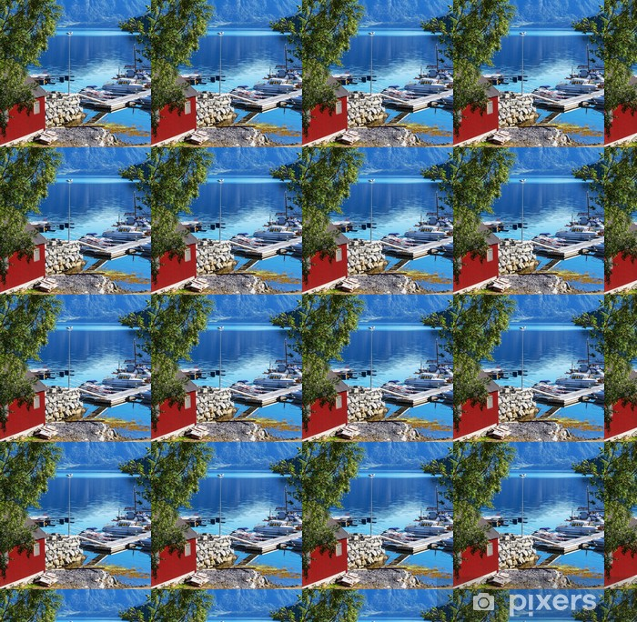 Vinylová tapeta na míru Boudy v Norsku - Evropa