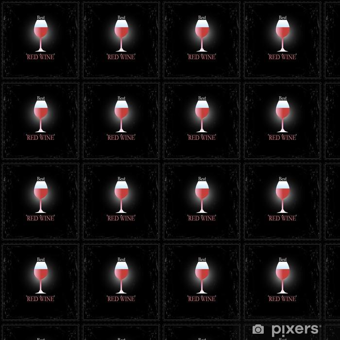 Vinyltapete nach Maß Glas Wein Zeichen - Alkohol
