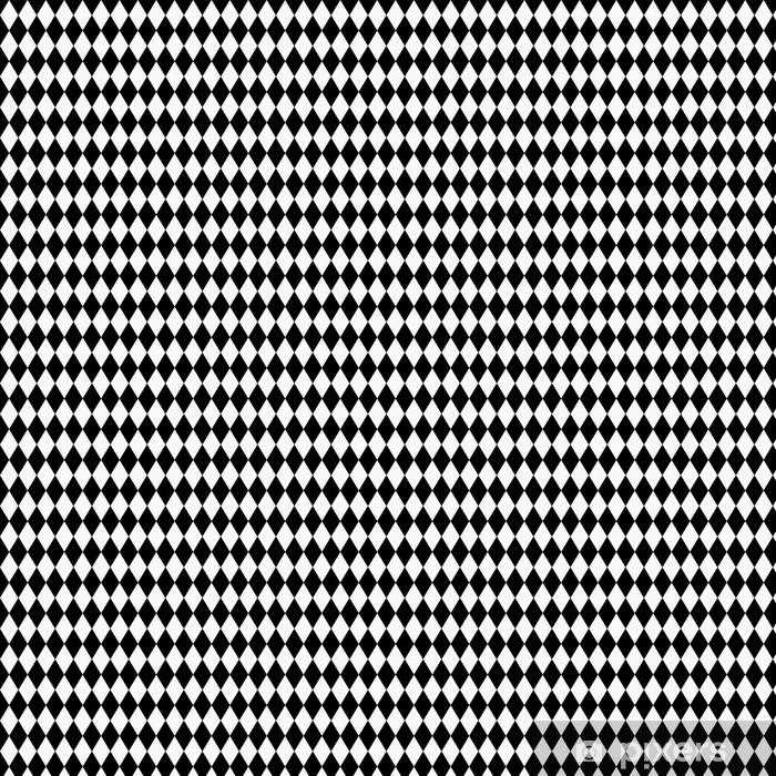 Vinylová tapeta na míru Black and White Diamond Tvar Fabric Background - Pozadí