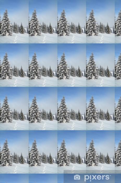Papier peint vinyle sur mesure Chemin dans la neige - Saisons