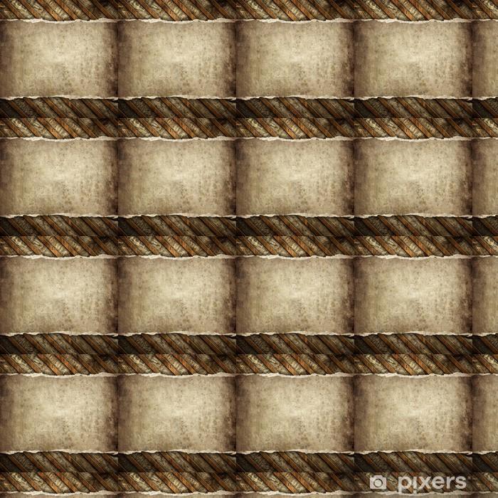 Tapeta na wymiar winylowa Stare papieru na tle drewniane - Tekstury