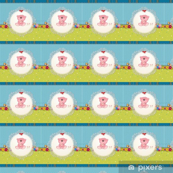 Vinyltapete nach Maß Karte mit Teddybär für Ihr Design - Für Kindergartenkind