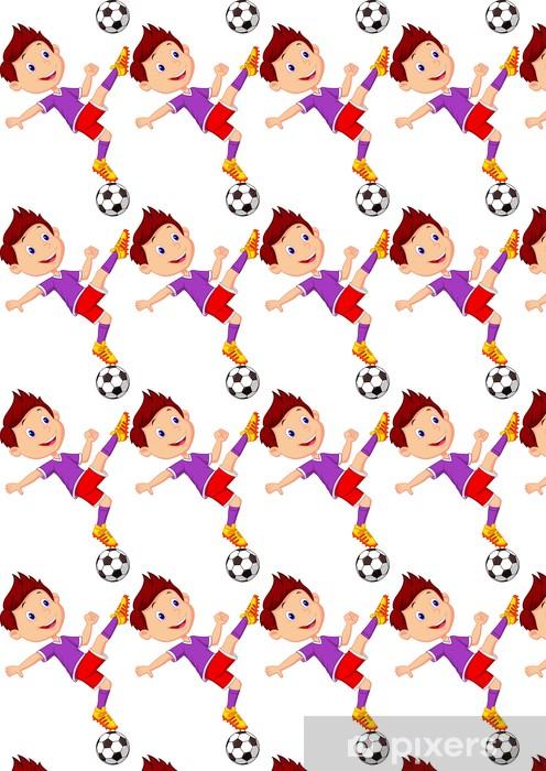 Papier peint vinyle sur mesure Garçon jouant au football - Enfants
