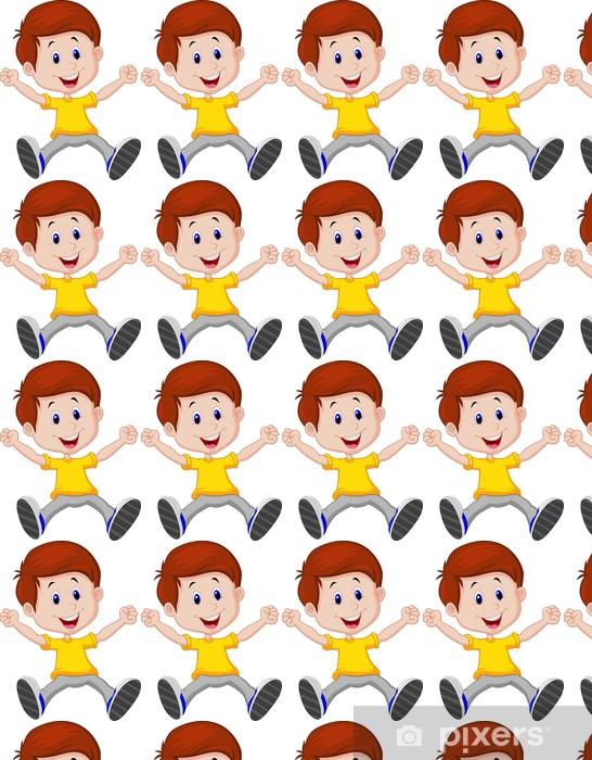 Vinyltapete nach Maß Happy Boy Cartoon - Kinder