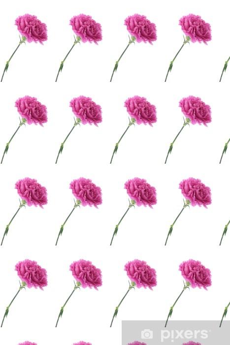 Papier peint vinyle sur mesure Oeillets roses - Fleurs