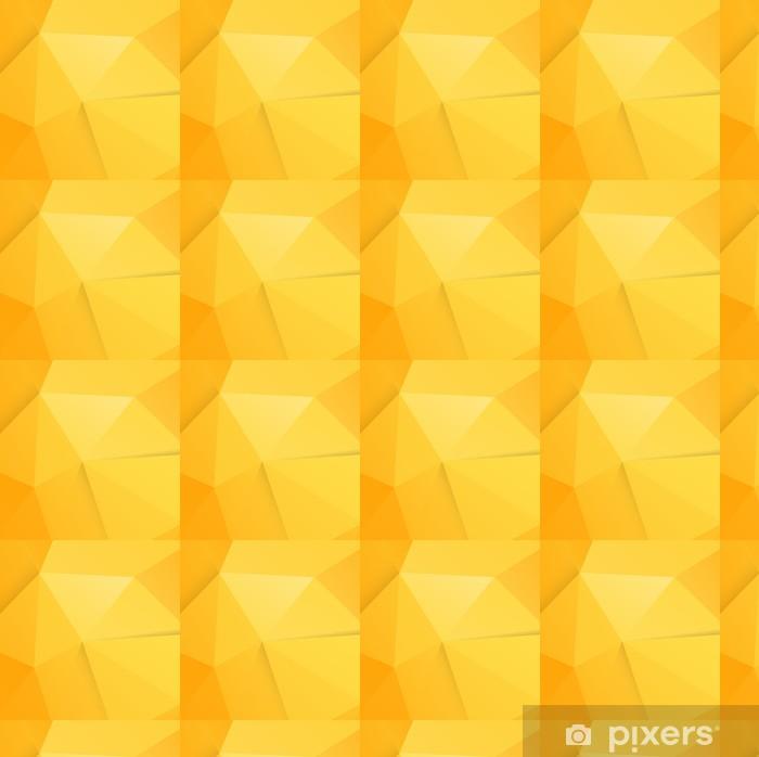 Vinyltapete nach Maß Abstrakt modern orange Polygon Hintergrund, Vektor-Illustration - Zeichen und Symbole